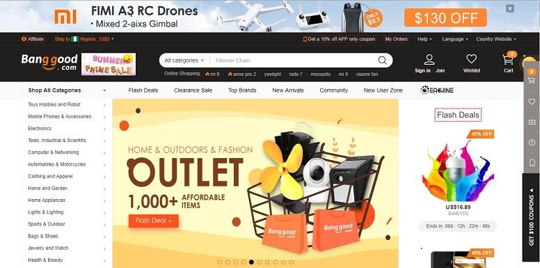 Banggood site screenshot