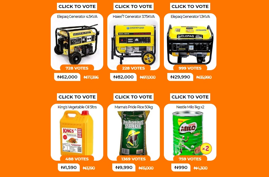 jumia flash sale deals voting
