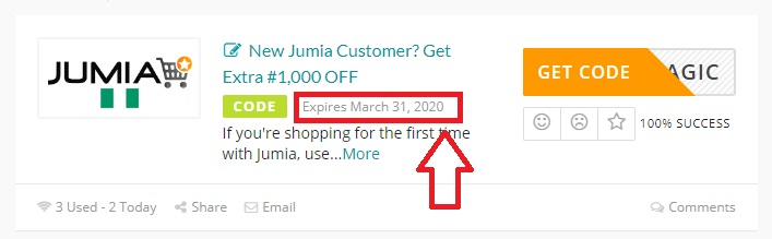 jumia coupon expiry date