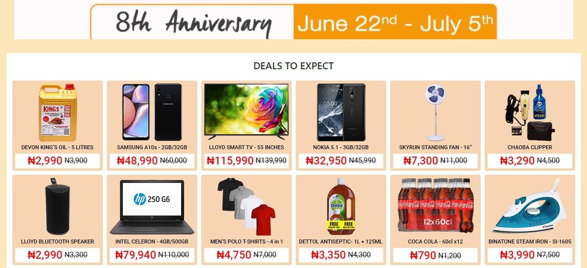 Jumia 8 Jahre Angebote